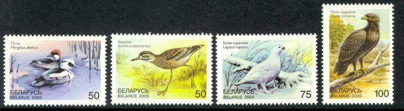 BELARUS 2000 BIRDS Set Sc 345-348 MNH