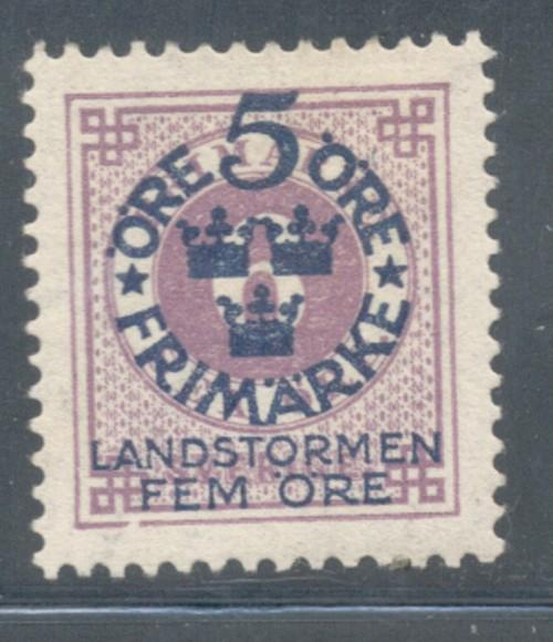 Sweden Sc B5 1916 Militia Overprint stamp mint