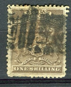 RHODESIA: 1890-92 early classic Springbok issue used Shade of 1s. value