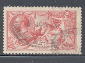Great Britain Sc 180 1919 5/ G V & Seahorses stamp used