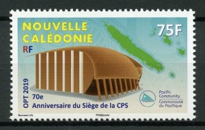New Caledonia Architecture Stamps 2019 MNH SPC CPS Pacific Community 1v Set
