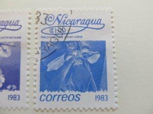 Nicaragua 1983 Flower 1cor fine used stamp A11P11F113