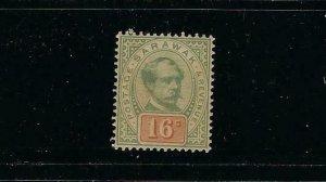 SARAWAK SCOTT #17 1888-97 SIR CHARLES JOHNSON BROOKE- 16 CENT MINT LIGHT HINGED