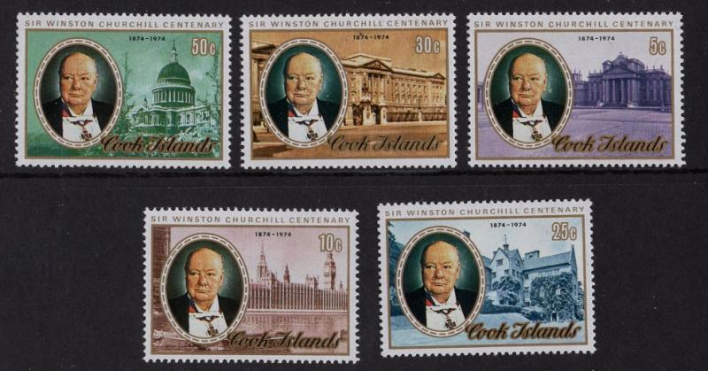 Cook islands  1974  MNH   #417-421     Churchill
