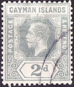 CAYMAN ISLANDS 1912 KGV 2d Pale Grey SG43 FU