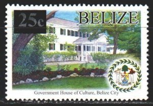 Belize. 2005. 1292 with overhead. House of culture, architecture. MVLH.