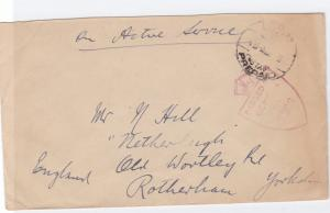 egypt 1940's on active service british field post censor cover  ref r15553