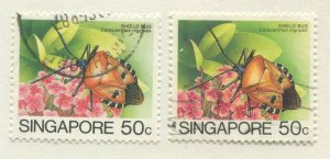 SINGAPORE #459, 459a USED