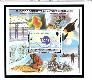 Brit Ant Terr 239 MNH 1996 SCAR XXIV S/S