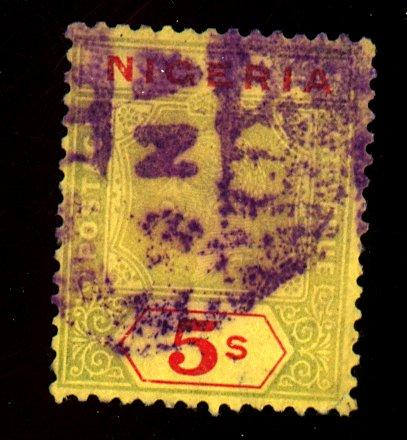 Nigeria #31a Used F-VF Heavy Cancel Cat$250