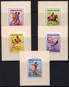 UPPER VOLTA MONTREAL 1976 Sc#390/2 C231/2 OLYMPIC GAMES 5 DELUXE S/S MNH