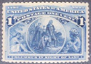 US #230 MNH OG.  1893 1c Columbian Commemorative.