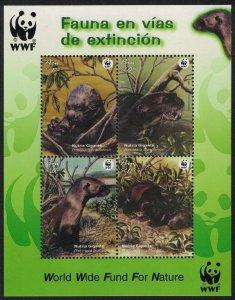 Peru WWF Giant Otter Miniature Sheet SG#MS2260 MI#Block 27 SC#1433