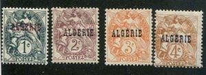 Algeria  SC# 1-4 Coat of Arms MH