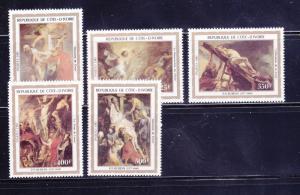 Ivory Coast 674-678 Set MNH Art, Rubens Paintings