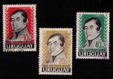 Uraguay (1962) Scott #686-688 USED A Complete Set Of 3 VF