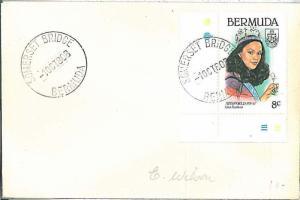 POSTAL HISTORY -  BERMUDA : Postmark on COVER 1980 - SOMERSET BRIDGE