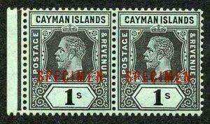 Cayman Is SG48bs 1/- Pair Opt SPECIMEN m/m