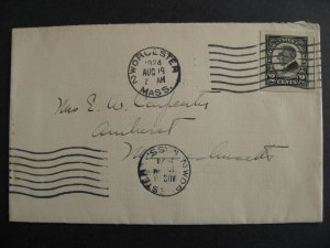 USA 2c Harding Sc 611 jumbo imperf on double cancelled 1924 cover, check it out!