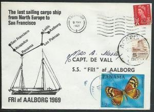 GB MEXICO PANAMA 1969 cover Last Sailing Cargo Ship FRI ex Edinburgh.....38119