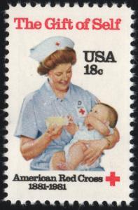 SC#1910 18¢ Red Cross Centennial Single (1981) MNH