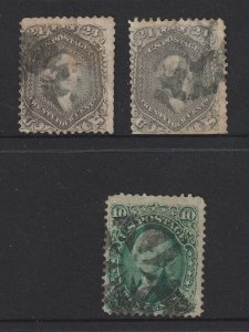 USA x 3 used from 1861