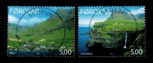 Faroe Islands Sc 433-34 2003 Small Towns stamp set used