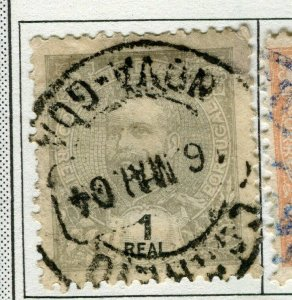 PORTUGUESE INDIA;   Early 1900s Carlos issue used 1r. value
