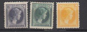 J25725 JLstamps 1926-35 luxembourg part of set better mh #167,171,181 duchess