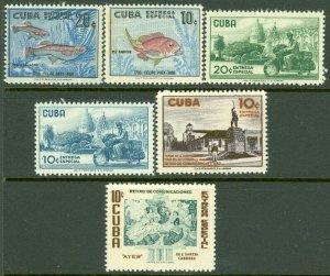 EDW1949SELL : SPANISH COLONY 1957-58 Scott #E22-27 Complete VF, Mint OG. Cat $48