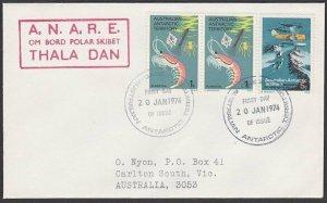 AUSTRALIA ANTARCTIC 1974 cover ex Casey  - Thala Dan ship cachet............L967