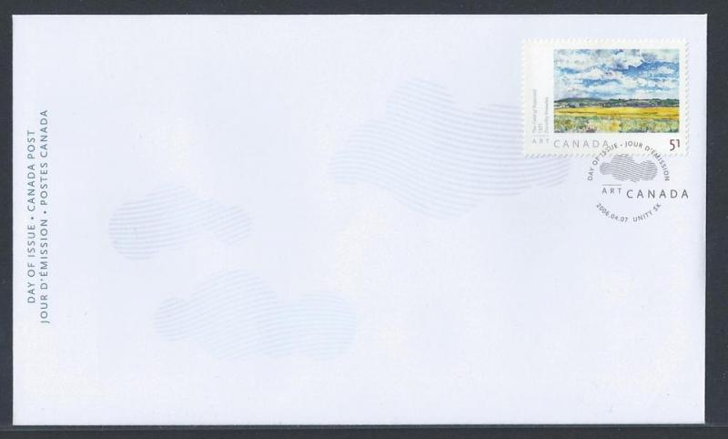 Canada SC# 2147 FDC - The Field of Rapeseed - Knowles