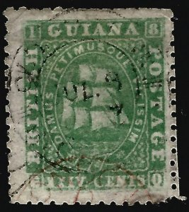 British Guiana SG56 Used FVF reperfed Cat$80..Fill a Key British Colony spot!