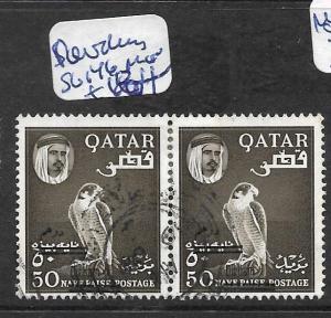 QATAR (PP1002B) REVALUED SHEIKH SG 146 PR   VFU