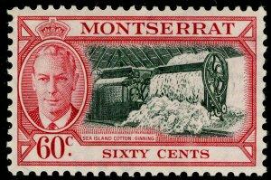 MONTSERRAT SG132, 60c black & carmine, LH MINT. Cat £11.
