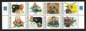 Micronesia Pioneers of Flight 5th series 8v Strip SG#418-425