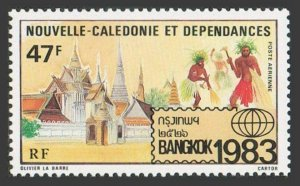 New Caledonia C189,MNH.Michel 720. BANGKOK-1983.Temple and Dancers.