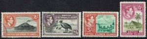 BRITISH SOLOMON ISLANDS 1939 KGVI PICTORIAL 2/- 2/6 5/- AND 10/- USED