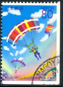 JAPAN PRETECTURE STAMPS 2000 80y Parachuting Issue Sc Z432 VFU