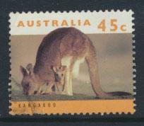 Australia SG 1454  Used  pale orange insc Type I - wildlife Kangaroo