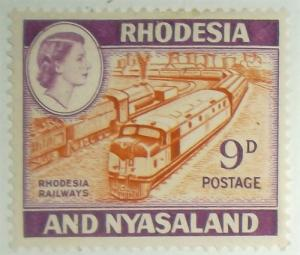 Rhodesia & Nyasaland, Postage Stamp #164A Free US Shipping MH