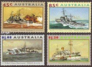 Australia #1315-8 MH complete battleships