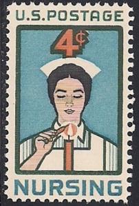 1190 4 cent Nursing Profession mint OG NH EGRADED VF 78
