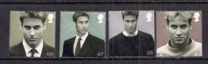 GB 2003 QE2 Prince Williams 21st B'day set of 4 used  ( E115 )