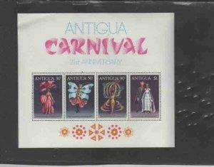 ANTIGUA #476a 1977 21ST SUMMER CARNIVAL MINT VF NH O.G S/S