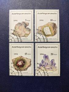 Azerbaijan 419-422 XF complete set, CV $2.55