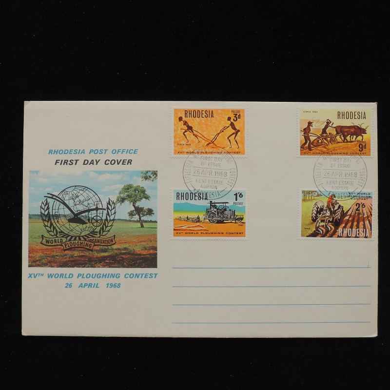 ZS-AC836 RHODESIA - Fdc, 1968 15Th World Ploughing Contest Cover