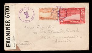 1941 Costa Rica Censored airmail cover to England / opened - resealed  - VF