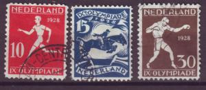 J15694 JLstamps 1915 netherlands hv,s of set used #b30-2 sports