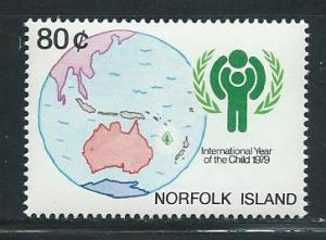 Norfolk Island 250 1979 IYC Child Year single MNH